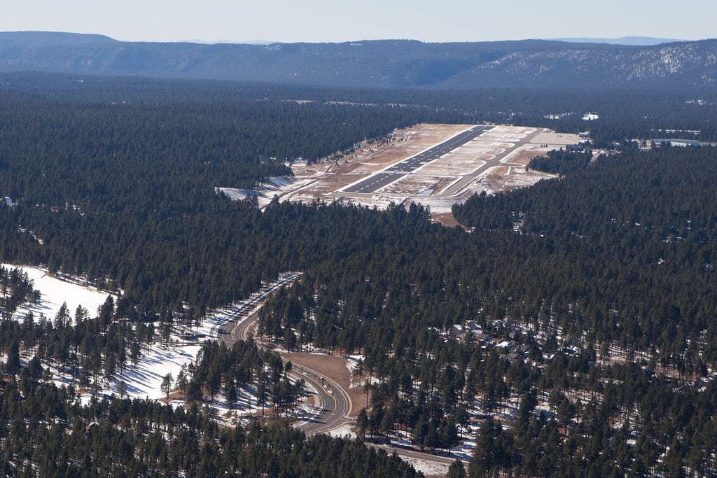 Flagstaff Arizona airport from sky