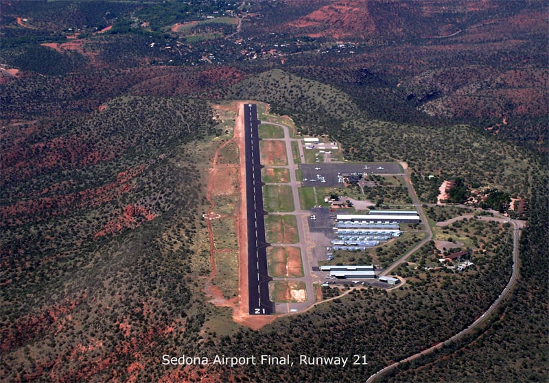 sedona airport from sky